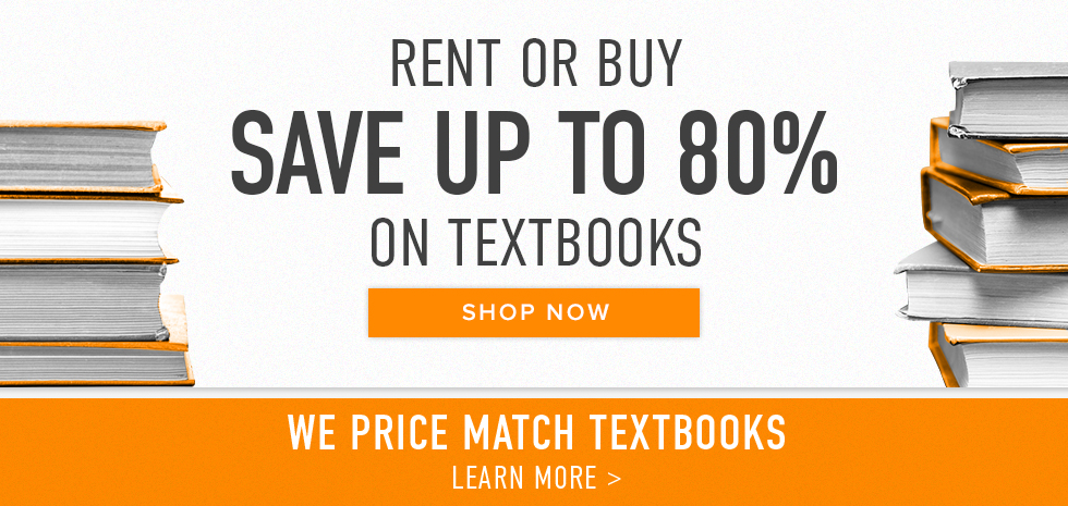 Picture of textbooks. Rent or buy. Save up to 80% on textbooks. Click to shop now. | We price match textbooks. Click to learn more.